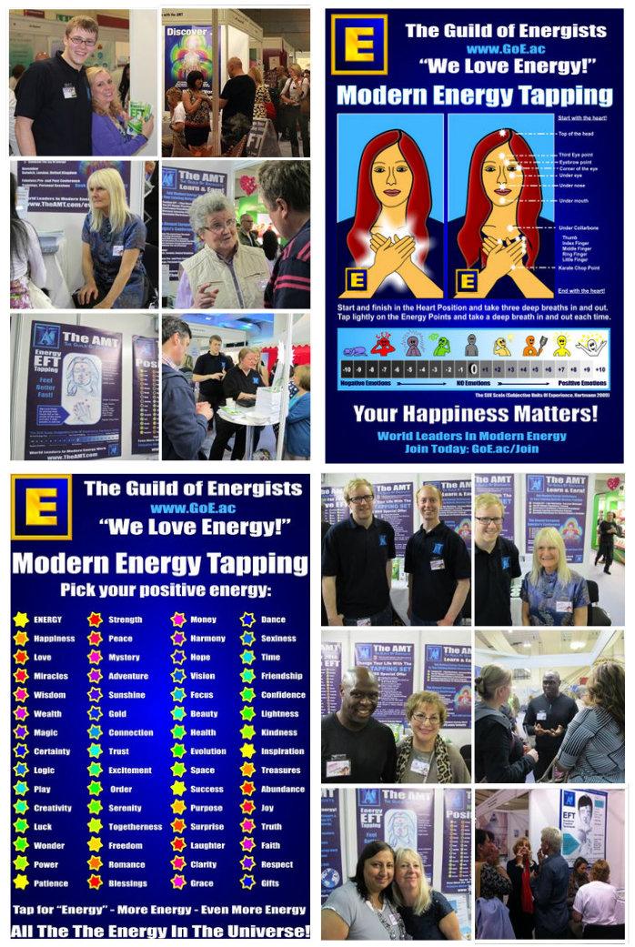 Modernes Energietappen auf Mind Body Spirit Festival London 2013